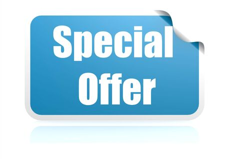 Special offer blue sticker photo