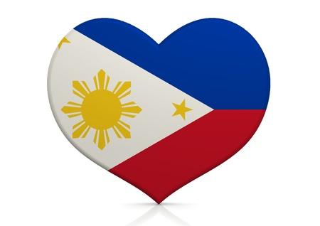 philippines flag: Philippines Stock Photo