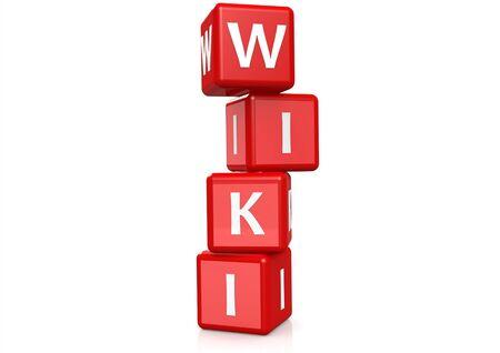 wiki wikipedia: Wiki buzzword Stock Photo