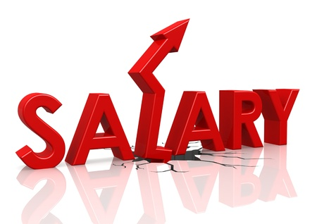 Salary up Stock Photo