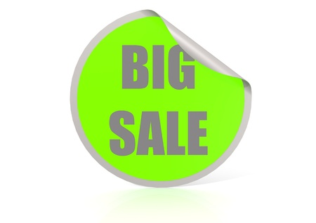 Big sale round label photo