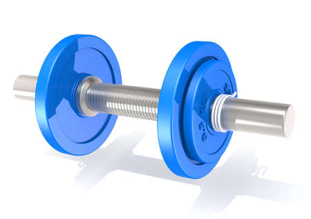 Dumbbell blue photo