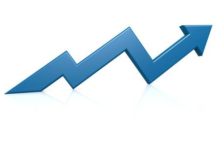 growth rate: Blue growth arrow