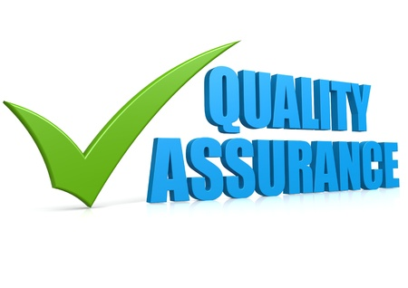 quality check: Quality assurance Stock Photo