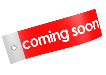 Coming soon label Stock Photo