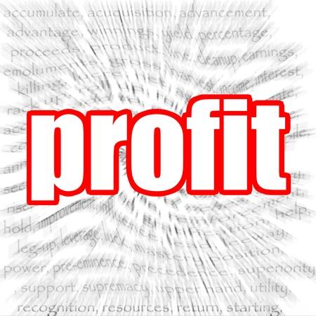 cash flow statement: Profit Stock Photo
