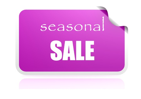 Seasonal sale purple label photo