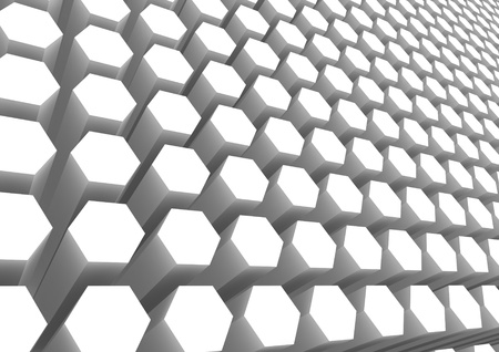 White hexagon pattern photo