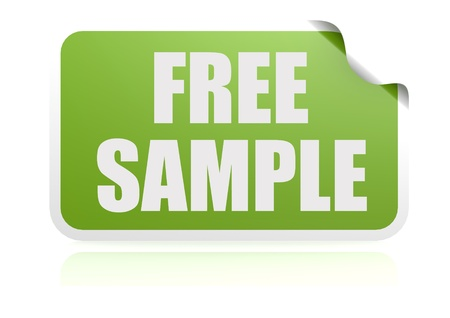 Free sample green sticker photo
