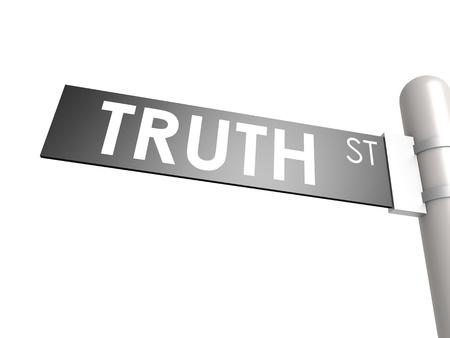 Truth street sign photo