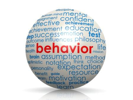 sphere of influence: Behavior sphere Stock Photo