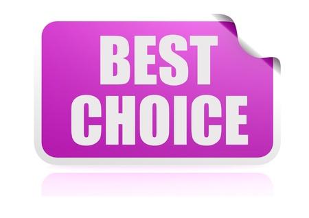 glued: Best choice purple sticker