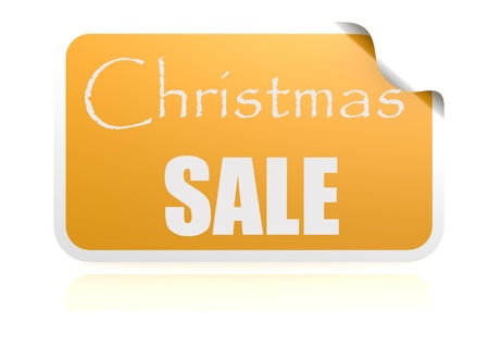 Christmas sale yellow sticker
