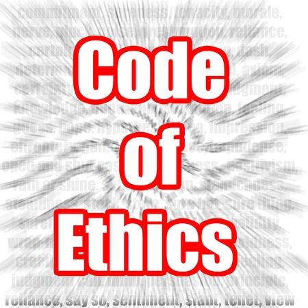 conflictos sociales: Código de Ética Foto de archivo