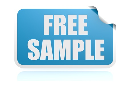 Free sample blue sticker photo