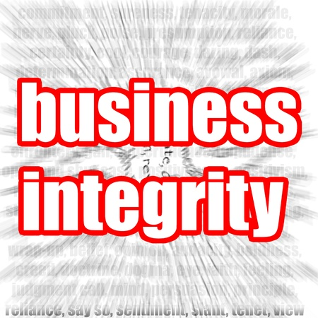 golden rule: Business integrity