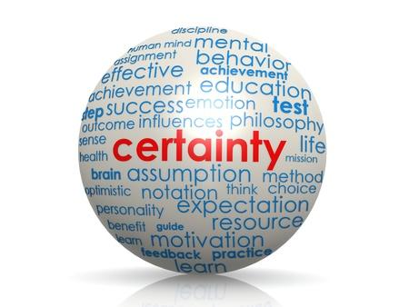 Certainty sphere photo