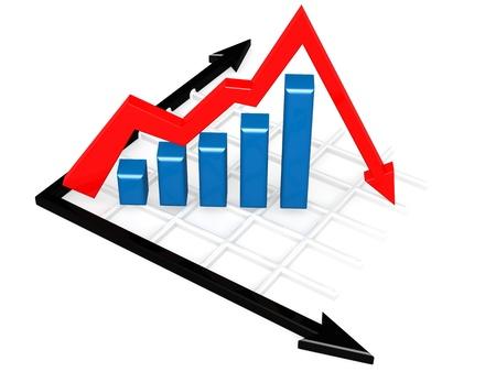 decline in values: Downturn graph