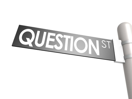 Question street sign photo