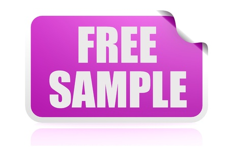 Free sample purple sticker photo