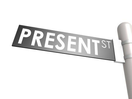 Present street sign photo