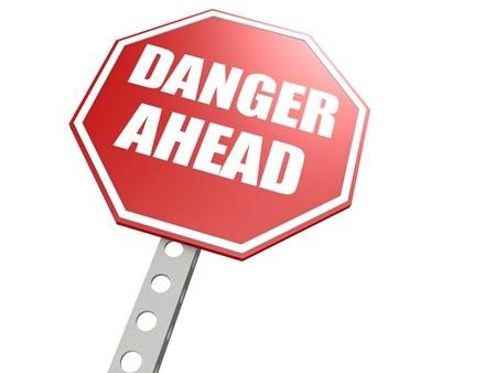 doom: Danger ahead road sign