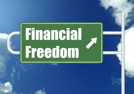 Financial freedom with sky photo