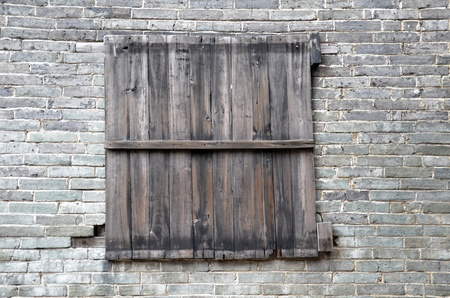 Wooden window photo