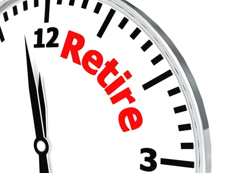retire: Retire clock Stock Photo