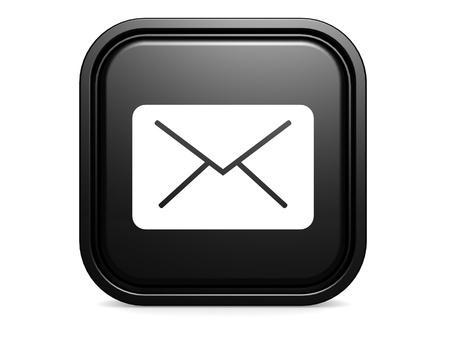chatbox: Black square envolope Stock Photo