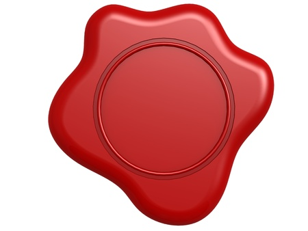 Red seal blank photo