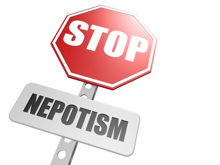 payola: Stop nepotism road sign
