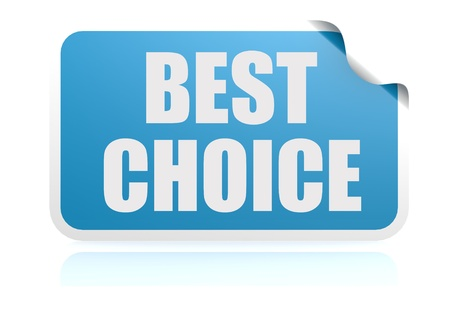 Best choice blue sticker photo