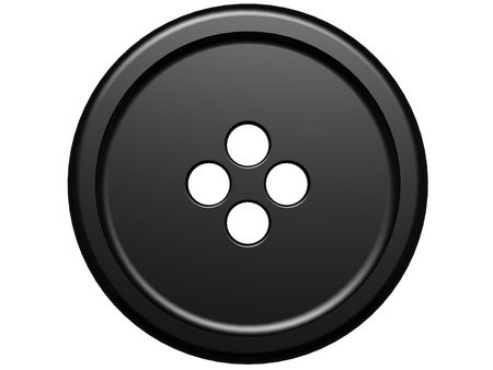 Black cloth button  photo