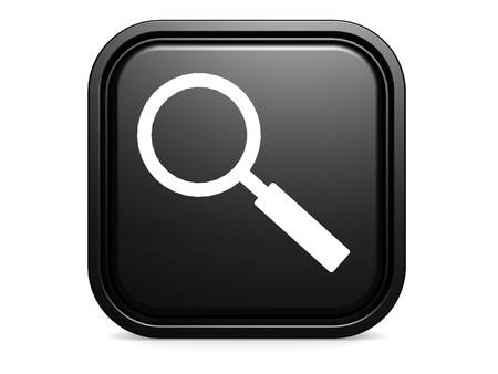 lupe: Black square magnifying glass Stock Photo