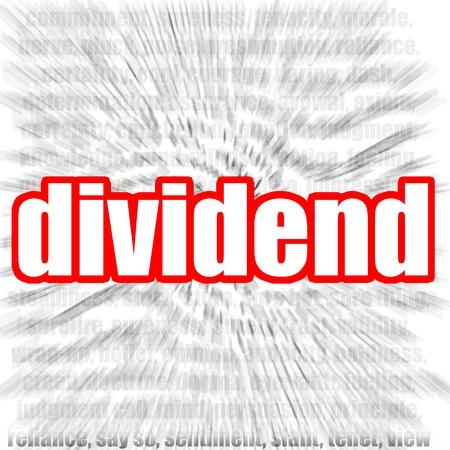 borrowing money: Dividend Stock Photo