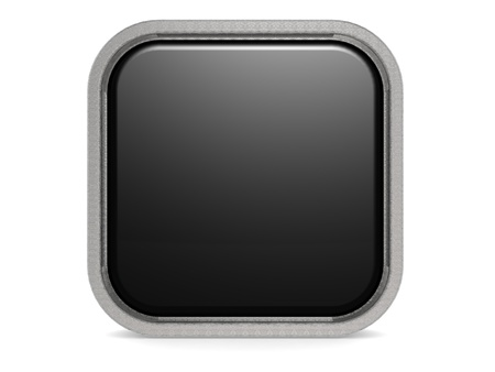 Black square button photo