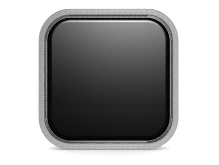 cuadrados: Bot�n negro cuadrado