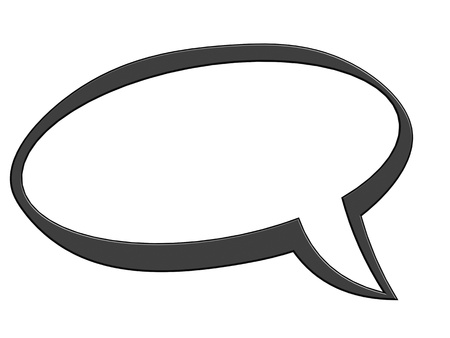 crunch: Black speech bubble Stock Photo