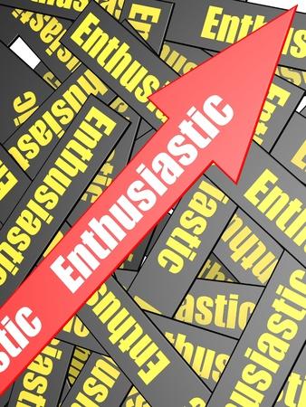 succeeding: Enthusiastic arrow bar