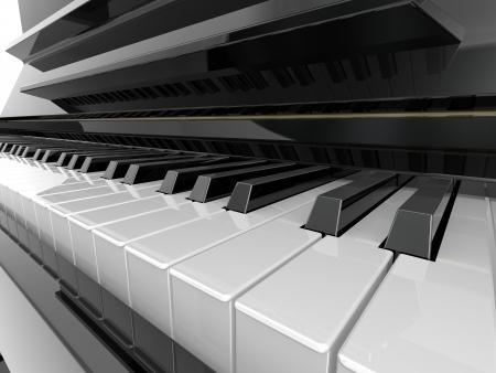 piano player: Piano key Stock Photo