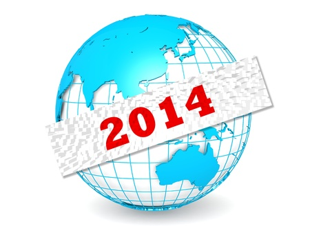 scheduling system: Globe with 2014 word