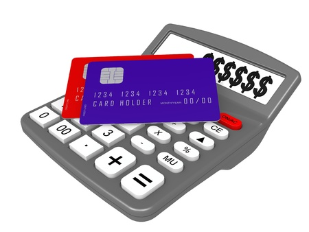 Calculator and credit card photo