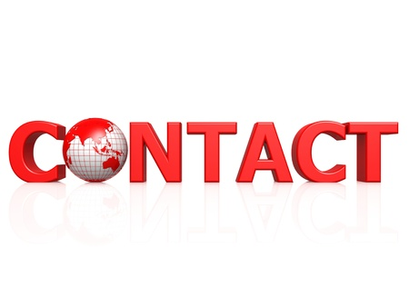 Contact with globe photo