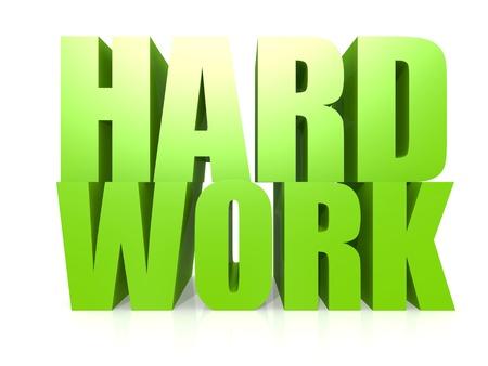 Hard work word photo