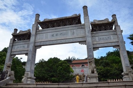 Gate of Chinese temple