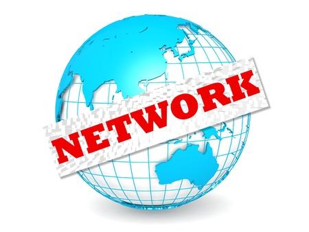 mass storage: Globe with network word