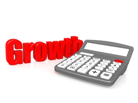 Growth with calculator Stock Photo - 21005033