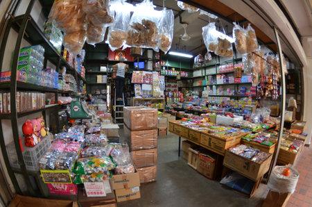Tradizionale negozio di alimentari a Singapore