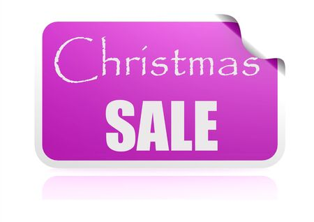 Christmas sale purple sticker photo